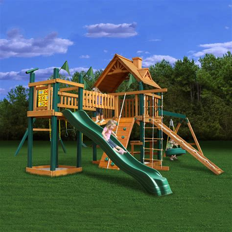 kid backyard playground set shop gorilla playsets pioneer peak residential wood
