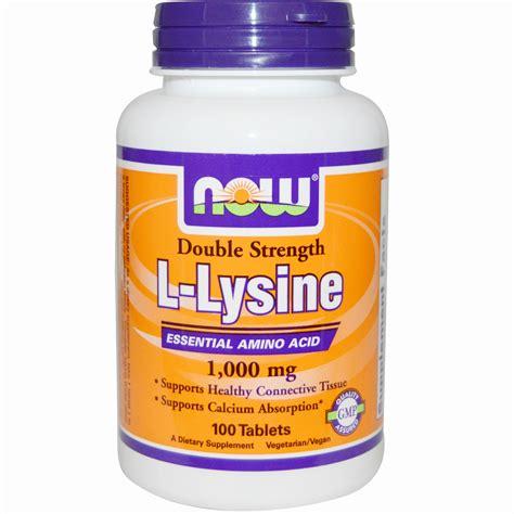 supplement l lysine now foods l lysine 1 000 mg 100 tablets iherb