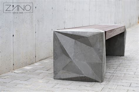 street benches design trigono bench 02 434 made of architectural concrete zano