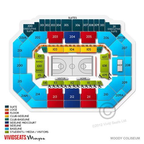 moody theater seating chart moody coliseum seating chart seats