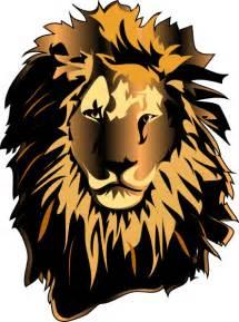 Lion head clip art at clker com vector clip art online royalty free