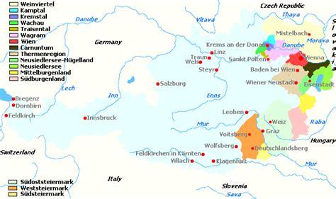 austria regions map austria s wine regions