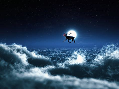santa reindeer wallpapers hd wallpapers id