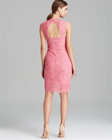 Nicoles Dress by Miller Dress Cap Sleeve Square Neck Lace In Pink Lyst