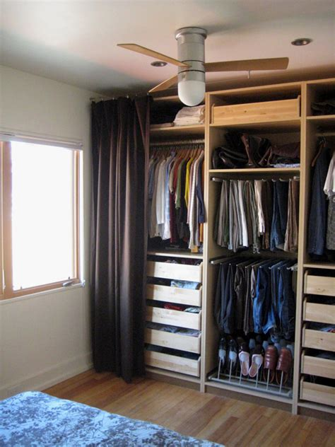 cover closet with curtain bedroom after chezerbey
