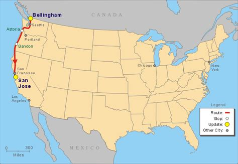 san jose california on us map traveling the oregon coast highway