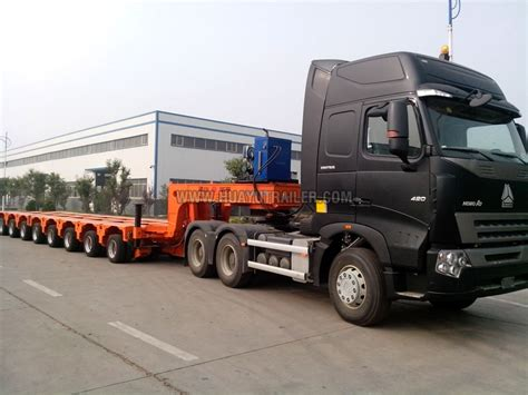 low bed trailer multi axle hydraulic low bed trailer manufacturer in
