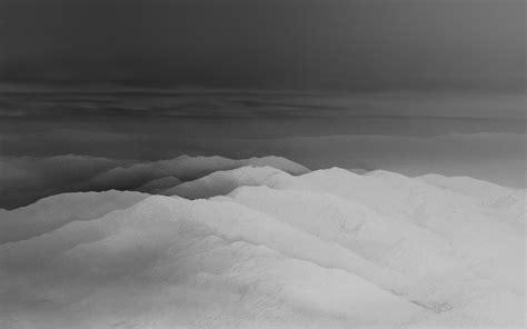 mountain fog nature white bw gray sky view wallpaper