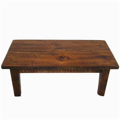 buy a custom sawn pine rustic style coffee table