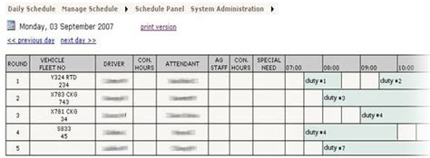 Visiontime Duity Manager From Flextime Manager On Duty Schedule Template
