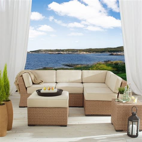 all wicker outdoor furniture best outdoor wicker sectional patio sets