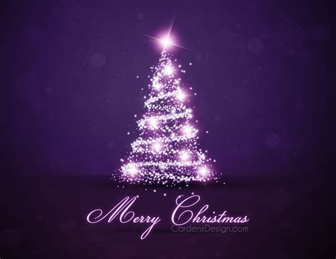 christmas tree for new year on the violet background