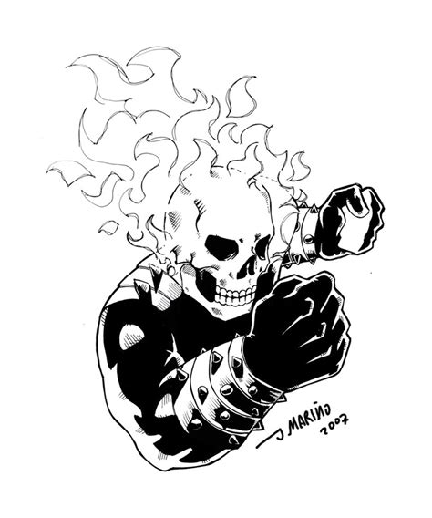 ghost rider inks by daborien on deviantart