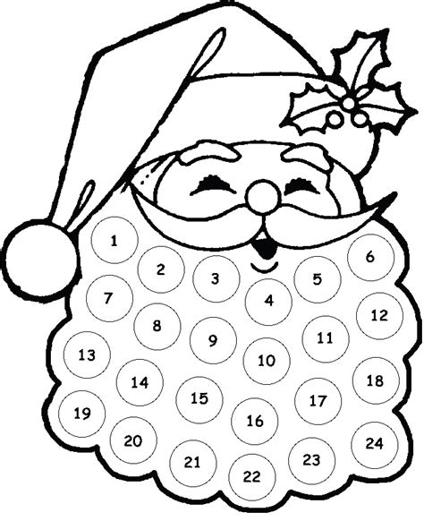 printable santa face search results for santa beard christmas countdown