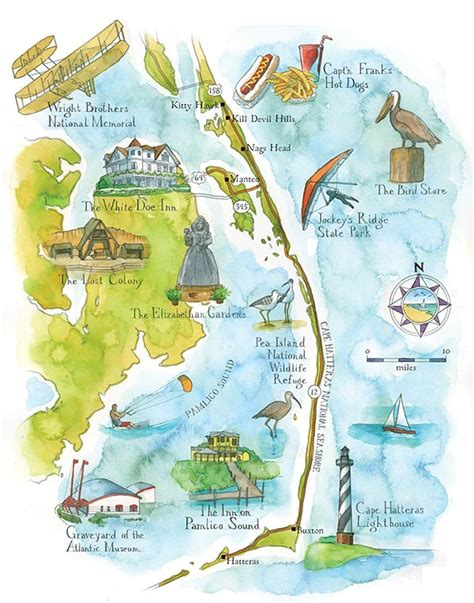 obx map road trip the outer banks atlanta magazine