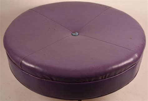 large round ottomans large round rolling pouf stool and ottoman at 1stdibs
