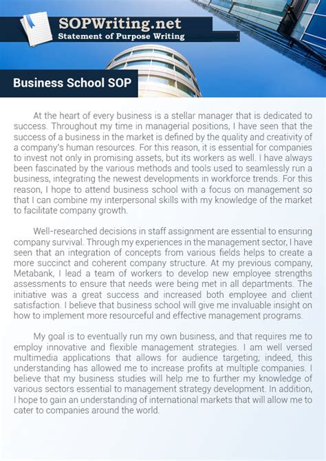 Sop Of A Software Engineer For Mba by How To Write Statement Of Purpose Business School
