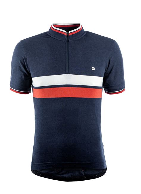 Jersey Sepeda Chapeau Cafe Jersey White Chest Stripe cafe jersey blue with chest stripe