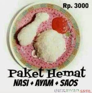 Paket Hemat Tempat Nasi Entong paket hemat nasi ayam dan saos ಌ berawan ಌ