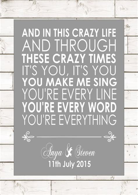 Wedding Anniversary Song Lyrics by 1000 Anniversary Quotes On Anniversary