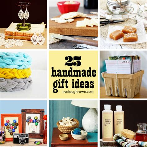 Handmade Gift Ideas - 25 fabulous handmade gift ideas live laugh rowe