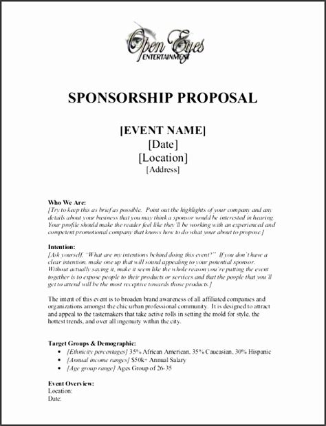 11 company event proposal template sletemplatess