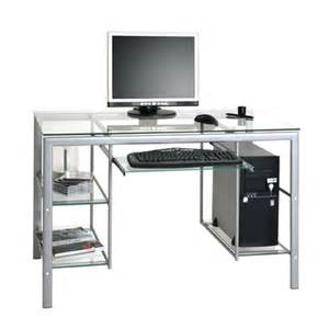 Clear Computer Desk Monti Black And Clear Glass Top Computer Desk With Metal