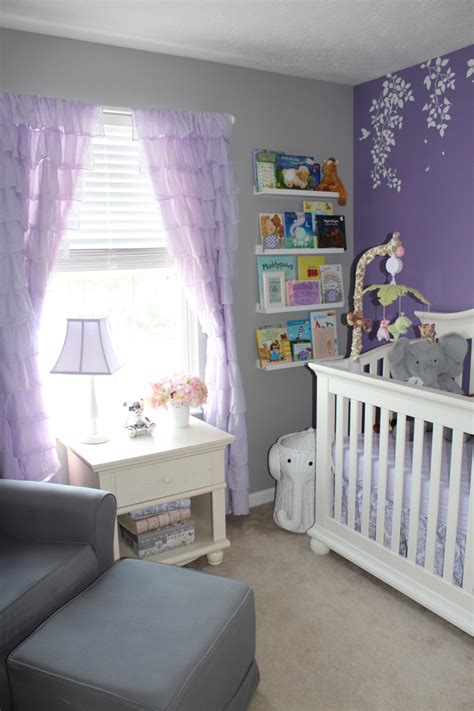 Lavender Curtains For Nursery Annabelle S Nursery Nurseries Nursery And Lavender