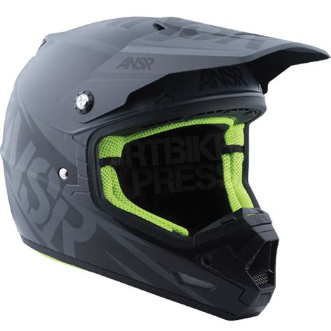 answer motocross helmets 2016 answer evolve 3 0 helmet grey black dirtbikexpress