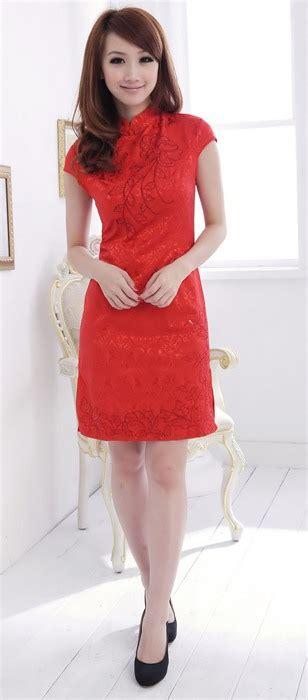Dress Merah 01 dress cheongsam merah imlek terbaru 2014 model terbaru