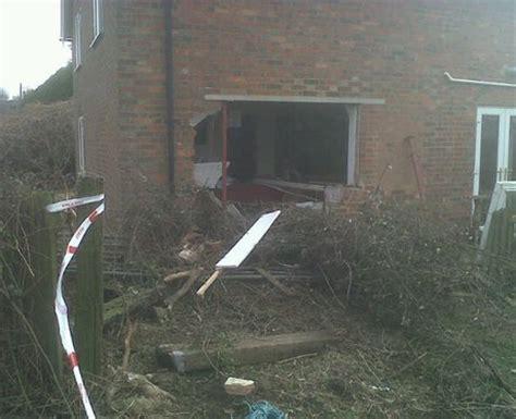 car hits house house hit by car near winslow 2 car hits house near winslow heart milton keynes