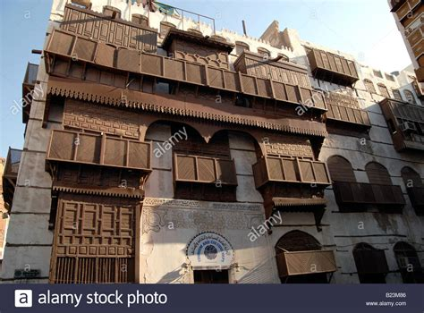 buy a house in saudi arabia old merchants houses with traditional wooden shutters in old jeddah stock photo royalty free
