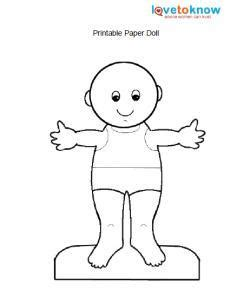 fashion doll outline printable paper dolls and clothes lovetoknow