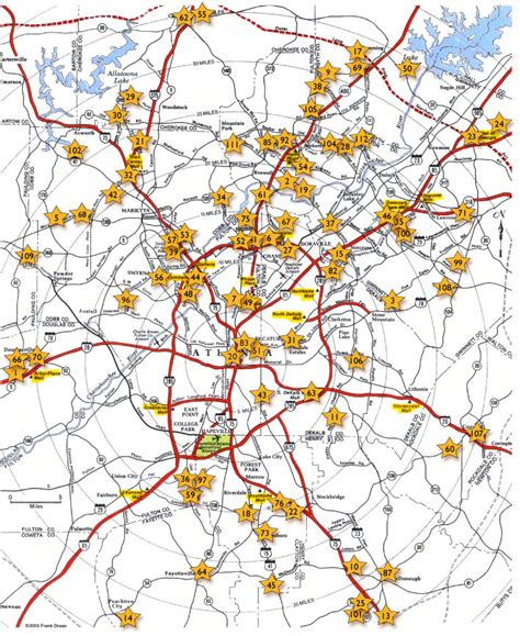 Atlanta On A Map by Map Of South Atlanta Road Pictures To Pin On Pinterest