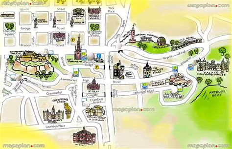 easy map of maps update 21051488 tourist map of edinburgh