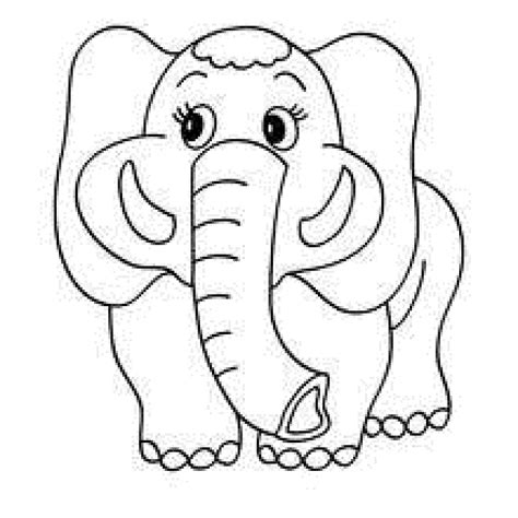 preschool coloring pages elephant dibujos para colorear animales sabana ideas creativas
