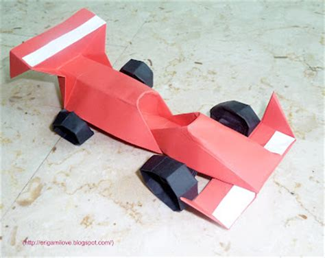 Origami Race Car - origami artist and freelance instructor in singapore