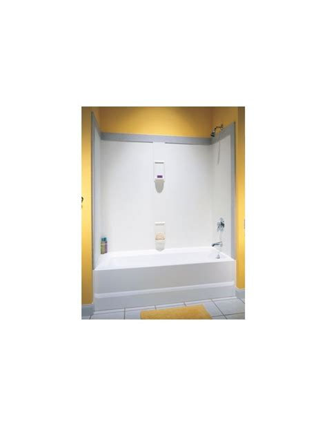 swanstone bathtub swanstone ss605 bathtub wall panel system in swanstone for 30 x 60 tub with white