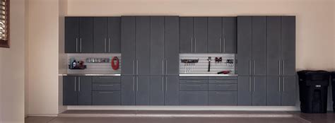 Wooden Cabinets For Garage by Garage Storage Cabinets Matte Metallic Wood