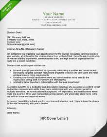 of department cover letter human resources cover letter sle resume genius