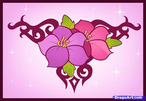 pattern drawing of flower easy to draw flowers new calendar template site