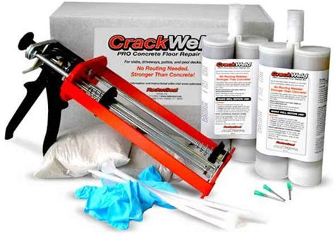 CrackWeld Concrete Floor Repair Kits for Slabs and Driveways