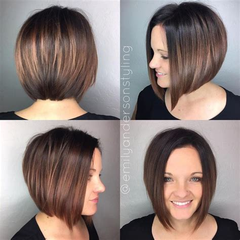 stacked hairstyles for fuller figure the full stack 30 hottest stacked haircuts brunette bob