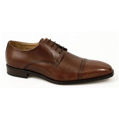 mens made formal work leather lace up brogue