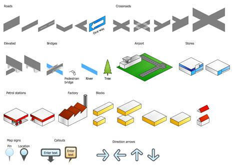 design elements direction directional maps solution conceptdraw com