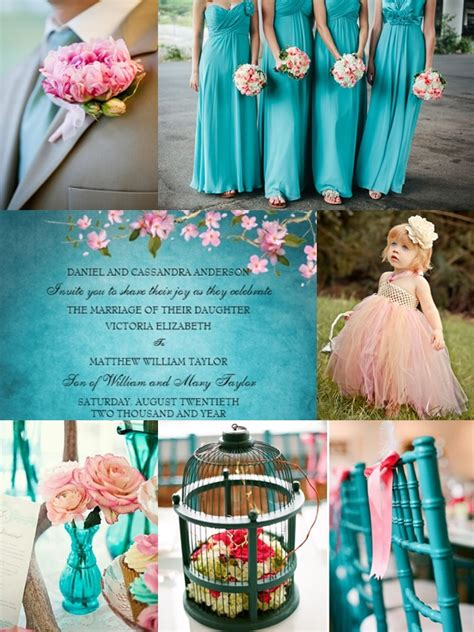 wedding color motif shades of pink and teal wedding philippines