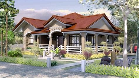 bungalow house design  terrace   philippines youtube