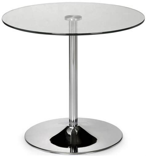 Pedestal Glass Top Dining Table Buy Julian Bowen Kudos Glass Top Dining Table Pedestal 80cm Cfs Uk