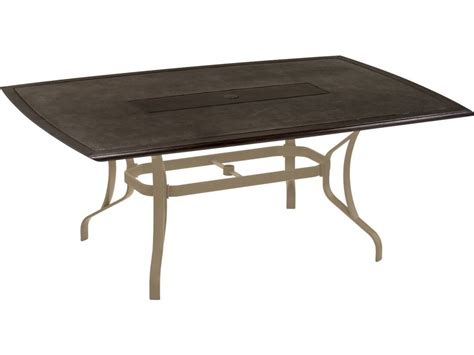 Tropitone Stoneworks Cast Aluminum Rectangular Dining Patio Table Bases