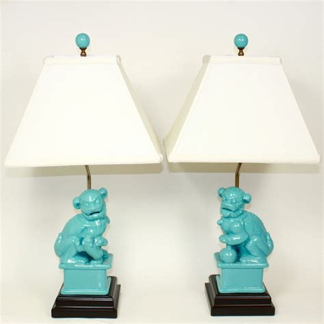 turquoise table l shades turquoise foo dog ls asian table ls by furbish